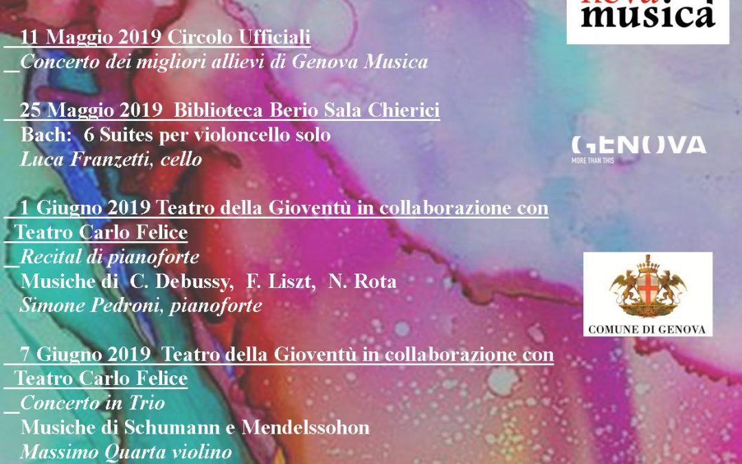 Genova Musica Concert Series 2019, May – June